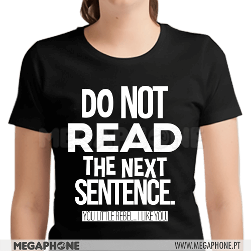Do not read sentence shirt