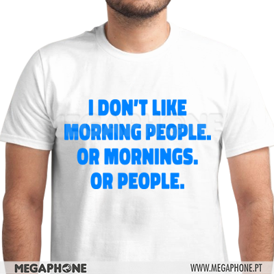 Dont like morning people shirt