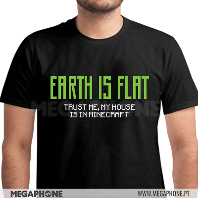 Minecraft Earth is flat shirt