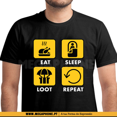 Eat Sleep Loot Repeat Shirt
