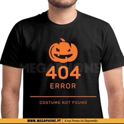 Costume error 404 shirt
