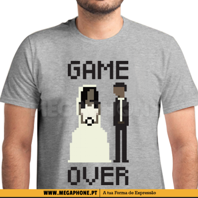 Game Over Pixel Casamento