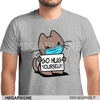 Go hug yourself cat shirt