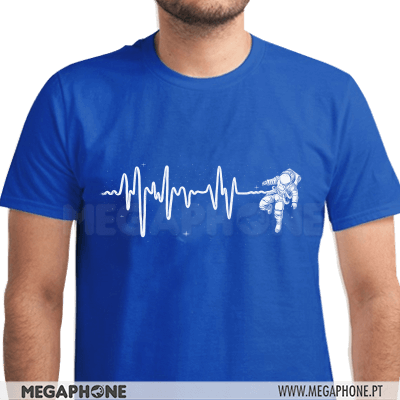 Heartbeat Astronaut Pulse Shirt