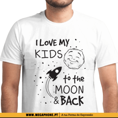 I love my kids moon and back