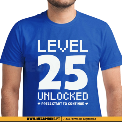 Level 25 unlocked shirt