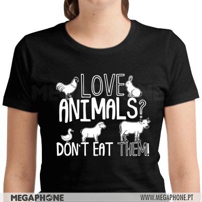 Love animals dont eat them shirt