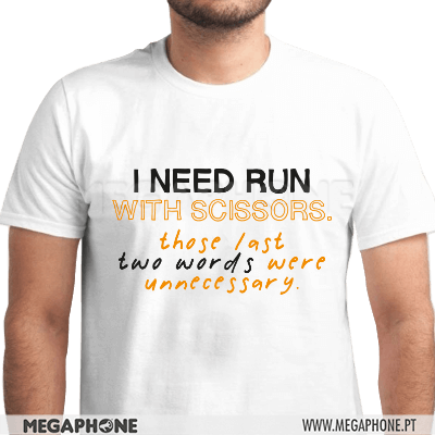 Need run two words shirt
