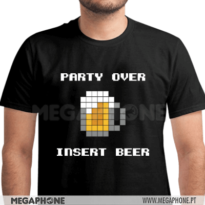 Party Over Insert Beer Shirt