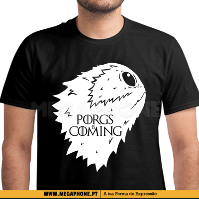 Porgs is coming star wars shirt