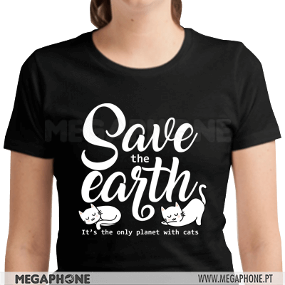 Save the earth cats shirt