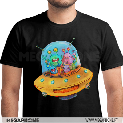 Spaceship aliens shirt