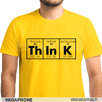 Think Periodic table shirt