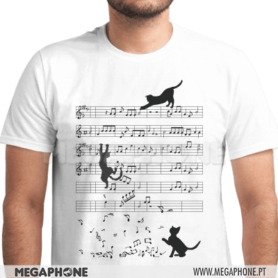 Cat Musical Sheet Shirt