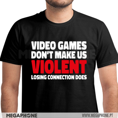Videogames violent connection shirt