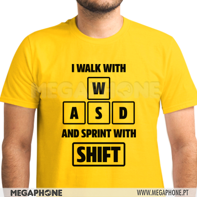 Walk with WASD spring SHIFT shirt