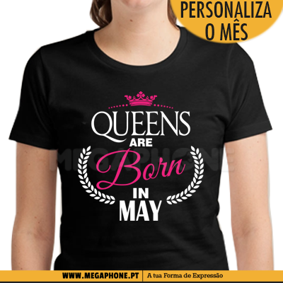 Queens are Born mes personalizado shirt