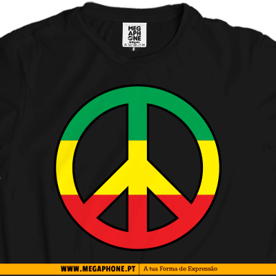 Reggae peace love tshirt