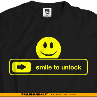 Smile unlock t-shirt