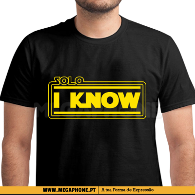 Solo I know shirt