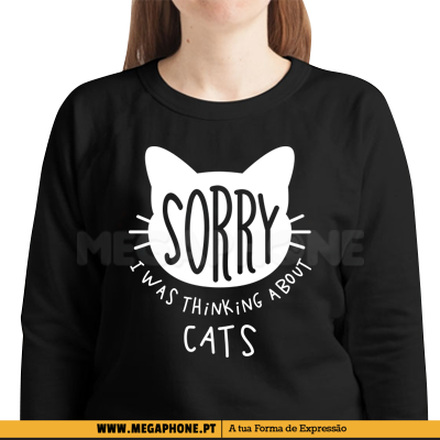 Sorry thinking about cats shirt
