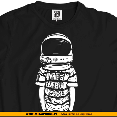 Space boy t-shirt megaphone