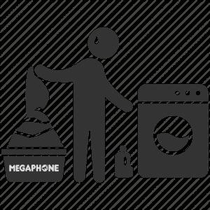 megaphone lavagem