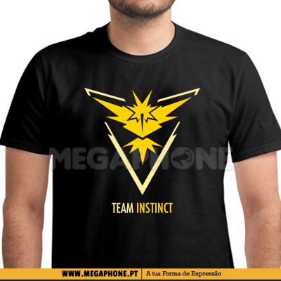Team Instinct pokemongo shirt