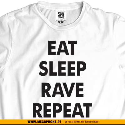 Eat sleep rave repeat tshirt