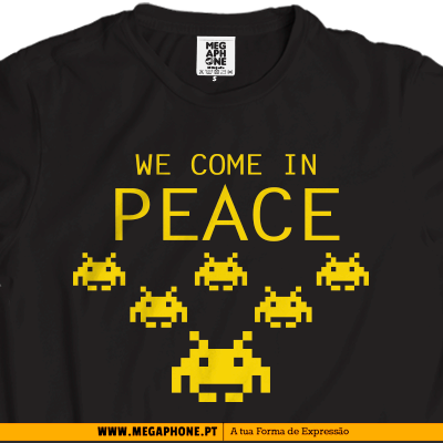 we come in peace t-shirt