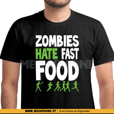 Zombies hate fast food shirt